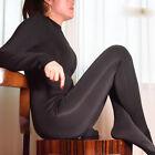 Women 500D Velvet Full Bodyhose Bodystocking High Collar Smooth Bodysuit Catsuit