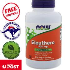 Now Foods, Eleuthero, 500 mg, 250 Vegan Capsules - Adaptogenic Herb*