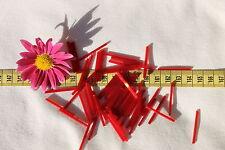 30mm Straight Satin Dark Red Czech Bugle Bead Crafts Jewelry Making/50 grams