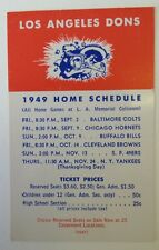 1949 Los Angeles Dons Football Schedul