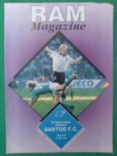 PROGRAMME - Derby v Santos FC (Brazil) - 20 Aug 1990
