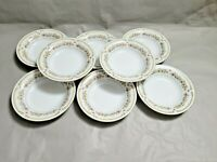 Set of 8 Vintage Porcelain Floral Liling Fine China Yung Shen Bowls 8.25'' W