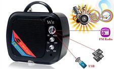 ds Mini Cassa WS-575 Casse Altoparlante Speaker Radio Fm MicroSd Usb Mp3 3w hsb