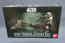 Star Wars Scout Trooper & Speeder Bike 1/12 scale Model kit Bandai Japan NEW ***