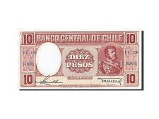 Billets, Chili, 10 Pesos, type Manuel Bulnes #258948