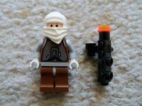LEGO Star Wars - Rare - Classic Bounty Hunter Dengar w Weapon - Excellent