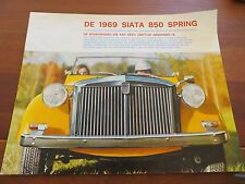 Brochure Siata 850 Spring (by Ambrosini) Dutch from 1969