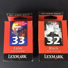 Lexmark 32 & 33 Black/Color Printer Cartridge - Genuine - Unopened - NEW HG3