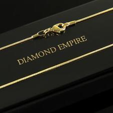 Schlangenkette 1 mm Halskette 750er Gold 18 Karat vergoldet Damen Herren K1449S