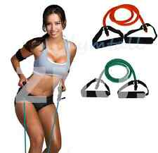 Rubber Yoga Bands Tube Pilates Gym Fitness Exercise Resistance Cord Set Workout