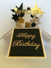 Personalised Large Handmade Gold Birthday Card  Own Word Boys Men's Man