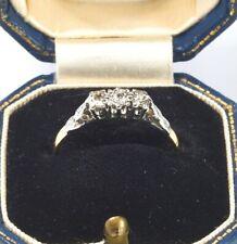 Antique Art Deco 18ct Gold  Platinum & Diamond  Three Stone Engagement Ring UK M