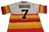 Craig Biggio Houston Astros Majestic Cooperstown Collection Jersey Sz Small