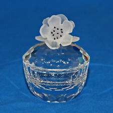 Swarovski Crystal 010068 ln box Round Flowers Treasure Box