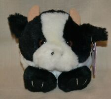 Swibco Puffkins Plush Meadow the White & Black Cow