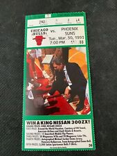 NBA-CHICAGO BULLS VS, PHOENIX SUNS-MAR,30,1993 TICKET STUB- MJ SCORES 44 POINTS