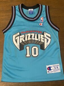 Vintage Mike Bibby Vancouver Grizzlies Toddler Kids Champion Jersey Size 8