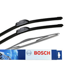 Vauxhall Meriva MK1/A MPV Bosch Aerotwin Retro Front Specific Rear Wiper Blades