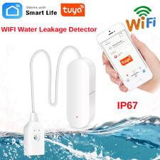 Wireless WiFi Water Leak Sensor Flood Leakage Level Alarm Overflow Detector Q7M1