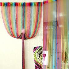 Decor String Line Curtain Window Door Panel Room Divider Valance Decal Screen