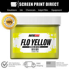 Fluorescent Yellow Screen Printing Plastisol Ink Low Temp Cure All Sizes