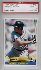 1984 DONRUSS # 431 DARRELL EVANS ☆RARE☆ SAN FRANCISCO SF GIANTS PSA 10 GEM-MINT