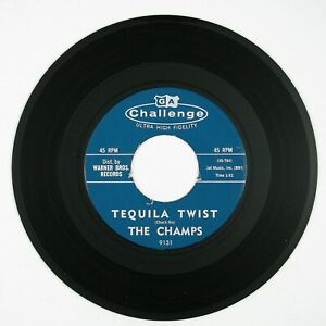CHAMPS Tequila Twist/Limbo Rock 7IN 1961 ROCK'N ROLL VG++