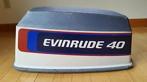 1976 Evinrude / Johnson 40 hp Hood Engine Cover cowl