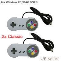 2x Classic USB Joypad Joystick Gamepad Gaming Controller For Window PC/MAC SNES