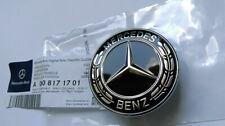 Black FOR Mercedes-Benz Star Flat Hood Bonnet Logo Emblem Badge C300 C63 57mm