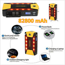 Portable 82800mAh Car Jump Starter Booster Emergency Charger Battery&Power Bank