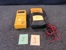 FLUKE 27 MULTIMETER ELECTRIC TEST MILITARY SURPLUS CABLES SOFT POUCH CASE USED