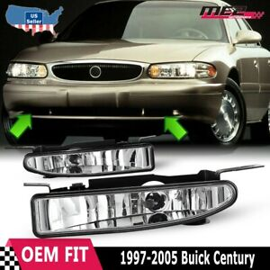 For Buick Century 97-05 Factory Bumper Replacement Fit Fog Lights Clear Lens