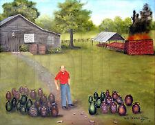 Burlon Craig Folk Art 11x14 Print Red Shirt Pottery Kiln Americana Arie Taylor