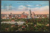 Skyline San Antonio Texas Vintage Postcard Postmark 1940 D89