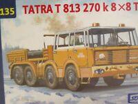SDV LKW Truck Tatra 813 8x8 TP 270k Zugmaschine Kunststoff Modellbausatz 1:87 H0