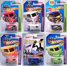 Hot Wheels Kool Kombi VW Volkswagen Lot of 6 Red White Blue Green Orange Beatles