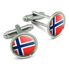Flag of Norway Men's Cufflinks Cuff Links Set