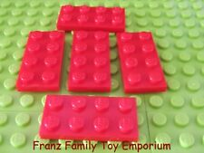 New LEGO Lot of 5 Red PLATE 2 x 4 Star Wars Harry Potter Castle Part 3020