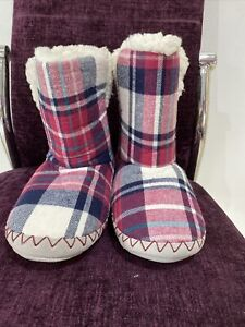 Fat Face Ladies Slipper Boot Size 3-4