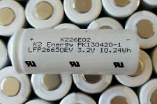 Lot of 12 3.2V K2 26650 LFP26650EV 3200mah 10.24wh Lifepo4 Rechargeable Battery