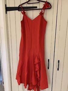 Satsuma Red Dress With Jacket Size 14