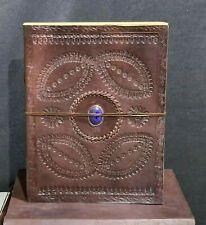 Handmade Leather Journal, Notebook, Album with Lapis Lazuli Gem Stone UNIQUE!!!
