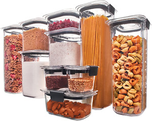 Rubbermaid Brilliance Pantry Airtight Pantry Storage Container BPA Free Plastic,