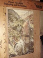 GRAND CANYON AZ~1900's JACOB'S LADDER~Horse Trail hand tinted? colored aerial