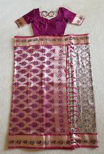 Women Designer Silk Sari Stitched Blouse Wedding wear Latest style Saree