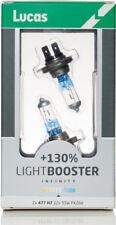 LUCAS H7 LightBooster Infinity 130% Brighter 12V 55W Halogen Headlamp Bulbs X2
