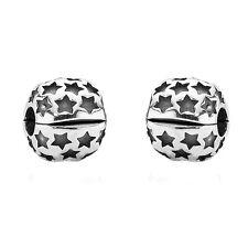 Genuine Pandora Star Clip Charms - Pair