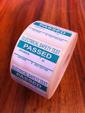 PAT Testing Labels x 1000 Passed Stickers Electrical *FREE P+P*