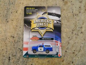 New Racing Champions Mint California Highway Patrol 1980 Ford Bronco Blue